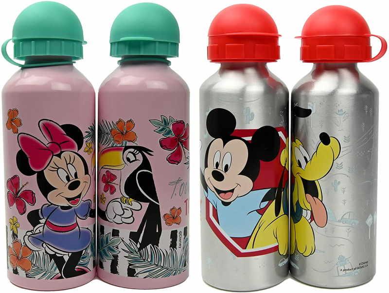 Borracce Alluminio Bambini con Minnie e Topolino